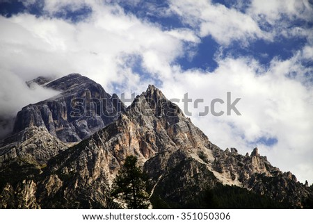 Dolomites Mountains - Tre Cime de Lavaredo - stock photo