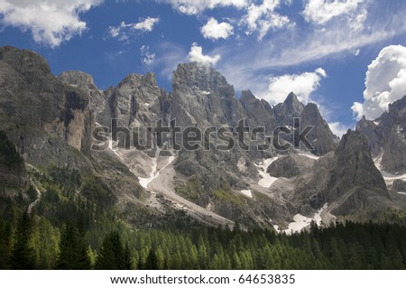 Dolomiti near San Martino di Castrozza,Trentino,Italy - stock photo