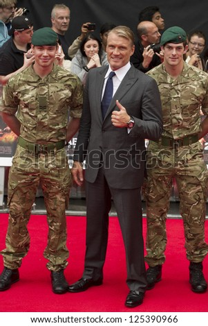 Dolph Lundgren arriving for the UK Premiere of The Expendables 2 at the Empire Cinema in, Leicester Square, London. 13/08/2012 Picture by: Simon Burchell - stock photo
