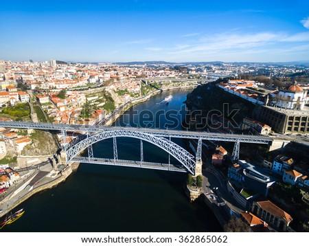 Dom Luis Bridge, Porto, Portugal - stock photo
