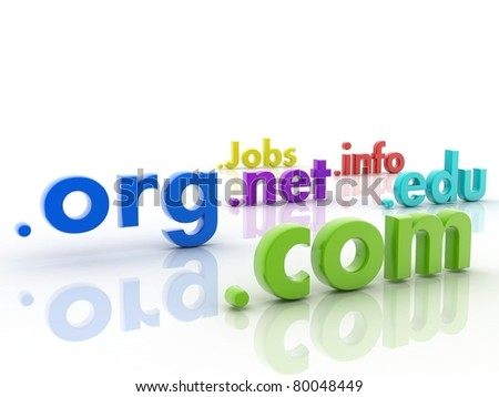 Domain names - stock photo