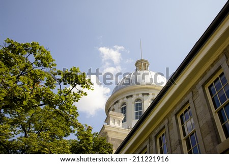 Dome of Bonsecours Market, Old Montreal, Quebec, Canada  - stock photo