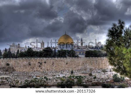 Dome of Rock, Al Aqsa mosque, churches in Jerusalem, Israel, Holy Land