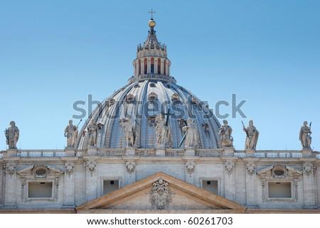 Dome of Saint Peter's Basilica in Vatican, Italia. - stock photo