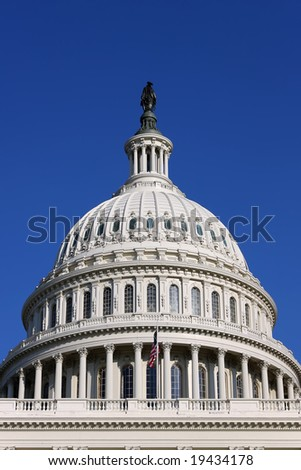 Dome of the US Capitol - stock photo