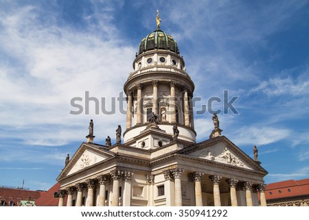 Domed tower of the French Cathedral, Franzosischer Dom, in Berlin, Germany.