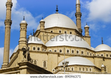 Domes of Muhammad Ali mosque (in Cairo)
