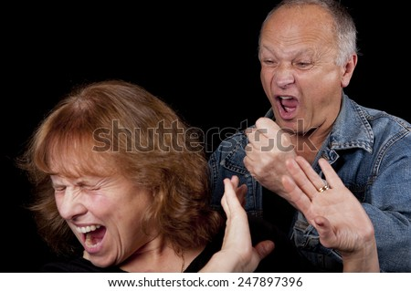 Domestic Abuse - stock photo
