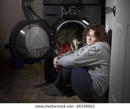 Domestic abuse - stock photo