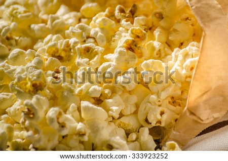 Domestic organic popcorn with herbs, not healthy but delicious for movie evenings.....