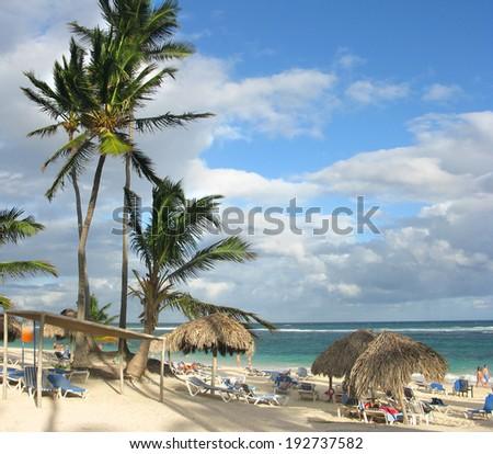 Dominican Republic. beach - stock photo