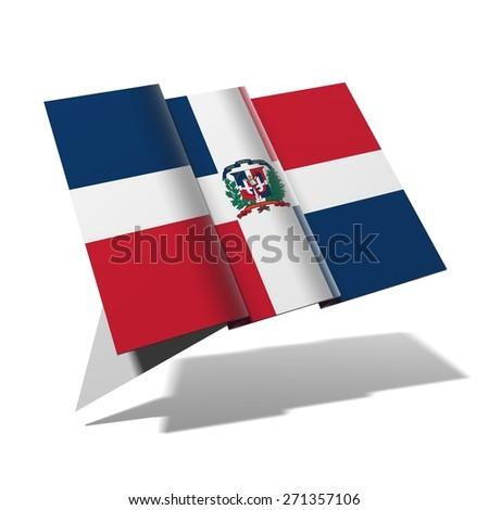 Dominican Republic flag 3D banner - stock photo