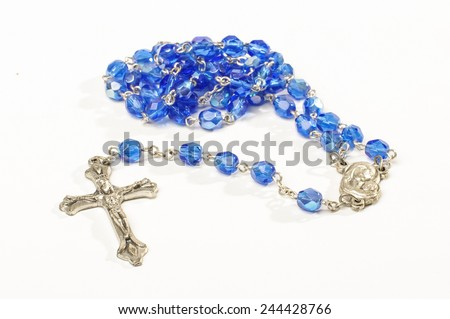 Dominican rosary isolated - stock photo