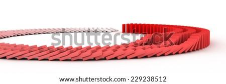 Domino - stock photo