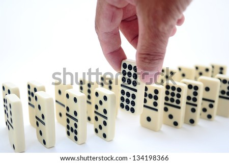 domino game - stock photo