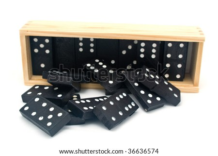 domino outside box - stock photo