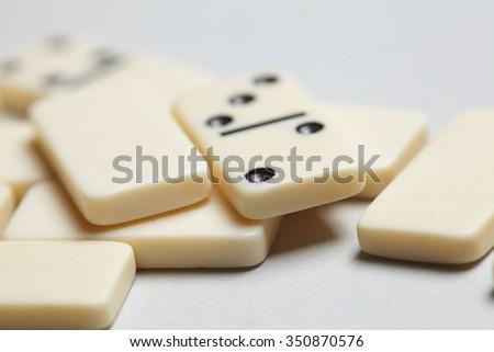 domino pieces - stock photo