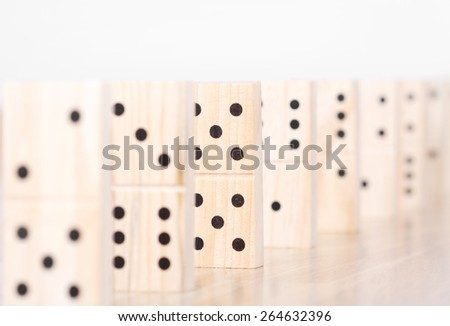 Domino pieces detail  - stock photo