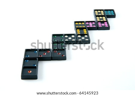 dominoes - stock photo