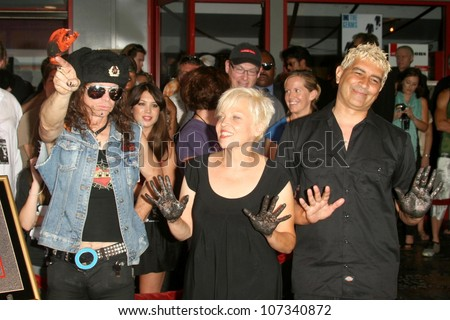 Don Bolles with Lorna Doom and Pat Smear  at the Hollywood RockWalk Induction Ceremony Honoring The Germs. Hollywood RockWalk, Hollywood, CA. 08-20-08