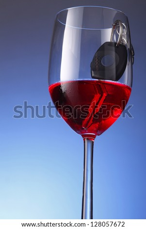Don't Drinking and Driving - stock photo