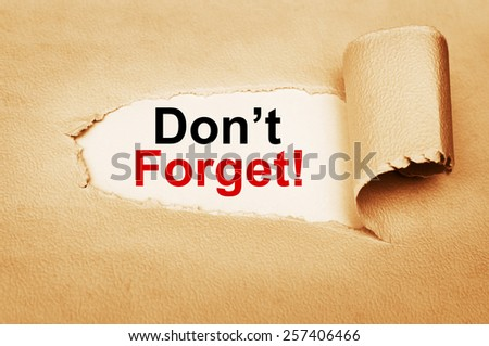 Don't Forget Concept - stock photo