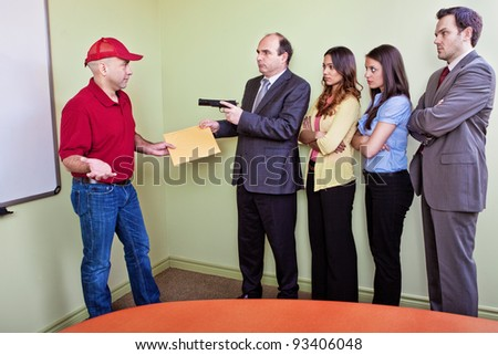 Don`t shoot the messenger - stock photo