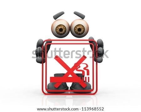 don't smoke symbol on a white background - stock photo