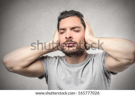 Don't wanna Hear - stock photo