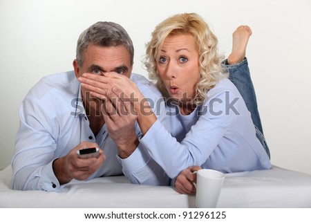 Don't watch - stock photo