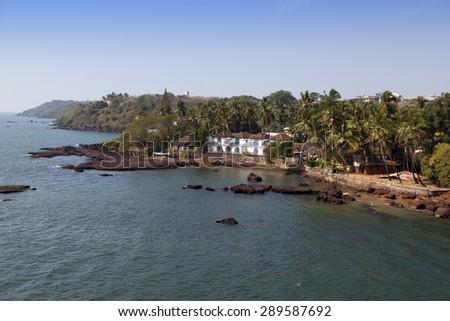 Dona Paula cape. Goa. - stock photo