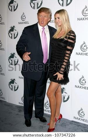 Donald Trump and Ivanka Trump  at a party to introduce the Trump Tower Dubai. The Tar Estate, Bel Air, CA. 08-23-08 - stock photo