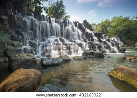 DONG NAI, VIETNAM March 16 2016: Beautiful Waterfall at GiangDien Waterfall, Dong Nai province, Vietnam in a daytime