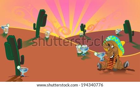 Donkey Background - stock photo