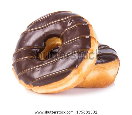 donut. chocolate donuts on background - stock photo