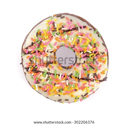 donut isolated on white background