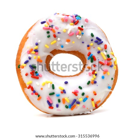 Donut isolated on white background. - stock photo