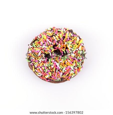 Donut on white background - stock photo