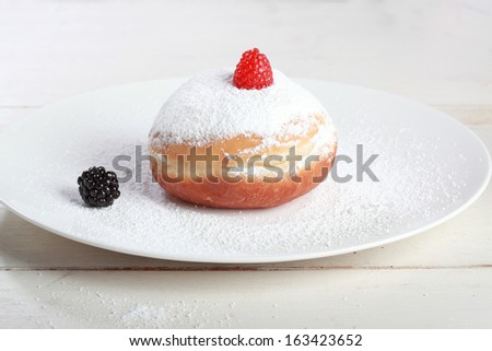 donuts in beautiful morning light - stock photo