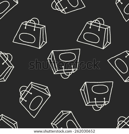 Doodle Bag seamless pattern background - stock photo