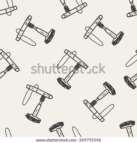 doodle bird house seamless pattern background - stock photo