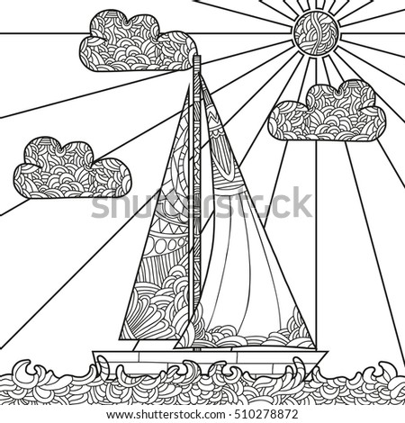 Wave coloring page stock images royalty free images Coloring books for adults hobby lobby