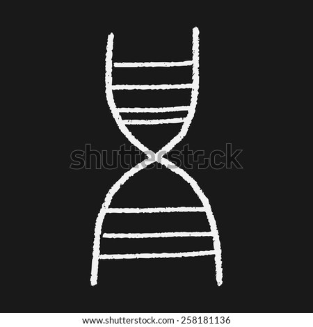 doodle dna - stock photo