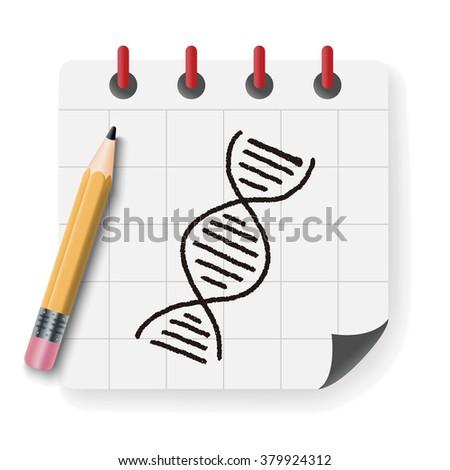 Doodle Gene - stock photo