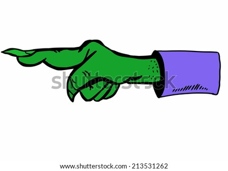 doodle halloween hand direction - stock photo