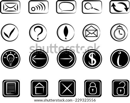 Doodle icons set - stock photo