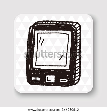 doodle mobile phone call - stock photo