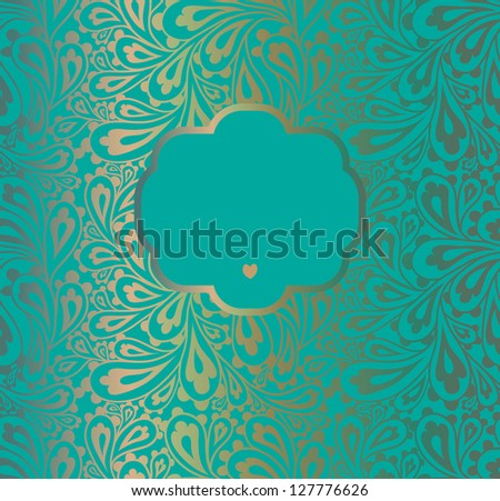 Doodle paisley background. Raster. - stock photo
