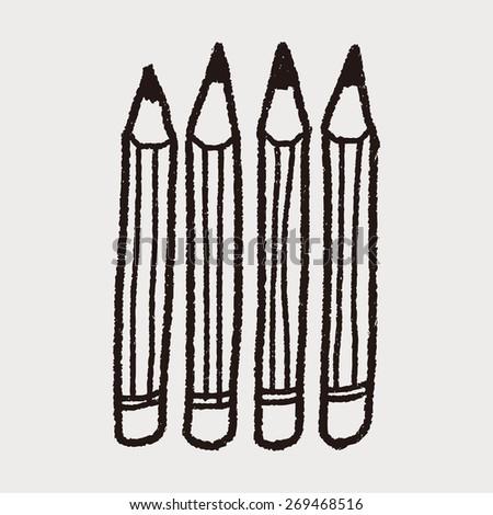 Doodle Pencil - stock photo