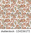 Doodle seamless paisley pattern. Raster. - stock vector